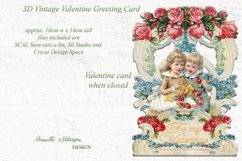 Pop out 3D Vintage Valentine print cut and foil sketch greet Product Image 2
