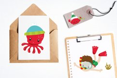 Christmas underwater graphics and illustrations Product Image 4