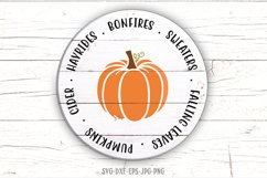 Fall sign bundle, pumpkin SVG, Fall Circle SVG, fall svg Product Image 3