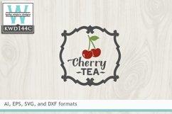 Tea SVG - Cherry Tea Label Product Image 2