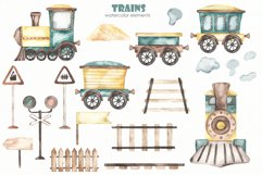 Transport bundle. Watercolor Product Image 21