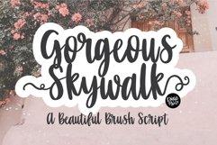 GORGEOUS SKYWALK a Beautiful Brush Script Product Image 1