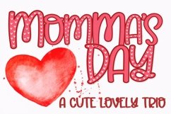 Web Font Momma's Day - A Lovely Trio Product Image 1