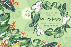 Tropics leaves JPG watercolor set Product Image 1