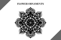 Flower Ornaments svg file, svg bundle, mandala flowers Product Image 4