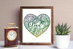 Floral Heart Zentangle SVG Product Image 2