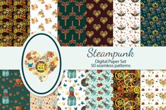 Steampunk seamles digital paper Product Image 1