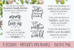 Mother's Day Bundle - 8 Designs - SVG, DXF & PNG Product Image 1
