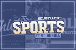 The Sports Font Bundle Product Image 1