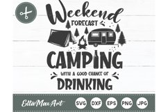Weekend forecast camping with a good chance of drinking Product Image 2