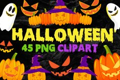 Halloween Clip Art PNG Files Product Image 1