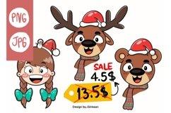 Christmas animal png, Merry christma, Christmas png, cutfile Product Image 1