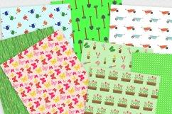 Spring Gardening Digital Paper Pack Product Image 2