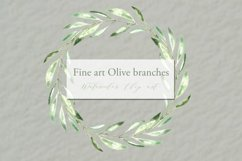 Olive branches. Watercolor clipart. Product Image 2