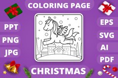 KDP Unicorns Christmas Coloring Book for Kids - 30 Pages Product Image 6