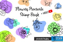 Flowers Procreate Brush. Floral Stencil. Procreate Stamp Product Image 1