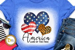 4th of July Sublimation Quote -Leopard print Heart Product Image 1