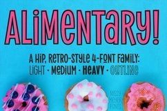 Alimentary - a hip and retro font family! Product Image 8