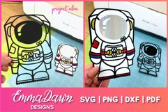 ACE THE ASTRONAUT SVG CUTE DESIGN Product Image 2