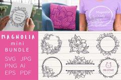 Magnolia mini Bundle SVG, Floral Monograms Cut Files, Weddin Product Image 1