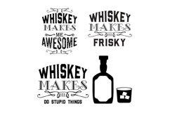 Whiskey Makes Me bundle of 4 shiskey Designs/ graphics Product Image 1