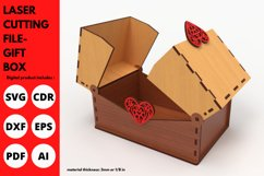 Gift Box - SVG - Laser cutting File Product Image 1