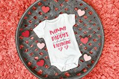 Mommy & Daddy's Little Valentine   Valentines Day SVG Bundle Product Image 5
