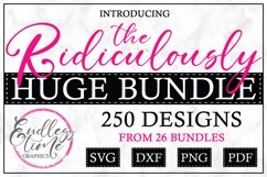 The Ridiculously Huge Bundle | 250 SVG & Sublimation Designs Product Image 2