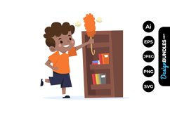 Boy Household Chores Clipart Product Image 1