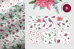 Watercolor Christmas seamless patterns Product Image 3