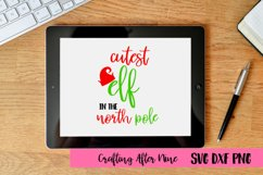 Cutest Elf in the North Pole Svg, Christmas Svg, Christmas Product Image 1