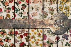 Dirty Floral Digital Papers Product Image 1