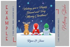 Santa Claus, Reindeer and Snowman watching the Fireworks. Product Image 4