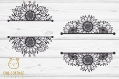 SUNFLOWERS BIG BUNDLE SVG, Floral borders and monograms Product Image 4
