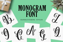 Monogram Handlettered for Crafters Product Image 1
