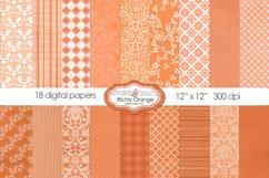 18 Richly Orange Digital Paper Pack Product Image 1
