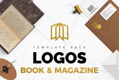 Books & Magazine Logos Bundle Pack Product Image 1