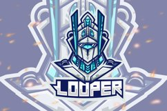 Looper Robot Esport Gaming Logo Product Image 1
