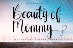 Beauty of Mommy - Beuty Calligraphy Font Product Image 1