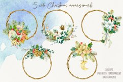 Watercolor Christmas arrangements. Winter cliparts Product Image 2