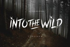 Into The Wild Brush Typeface Product Image 1