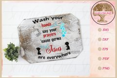 Sign SVG | Wash And Pray Bubbles Reminder Quote Product Image 1