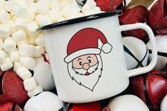 Santa Face SVG - Christmas Santa Face Cliparts Product Image 2