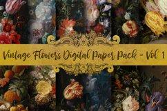 Vintage Flowers Oil Painting Digital Paper - Vol 1 Product Image 1