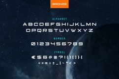 Bronze Modern and Futuristic Font Product Image 5