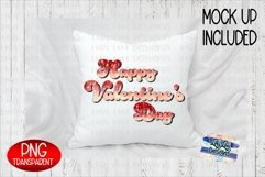 Happy Valentine's Day Glitter Ombre Sublimation PNG Product Image 2