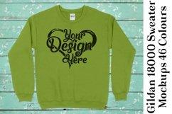 Gildan 18000 Mockup Sweater Mock Up Black White Grey 951 Product Image 6