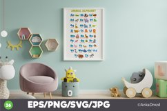 Animal Kids Alphabet Clipart, English ABS letters School Product Image 2