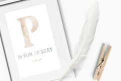 Pickley - Opentype SVG Bitmap font - watercolour font A to Z Product Image 3