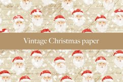 Vintage Christmas digital paper pattern Product Image 3